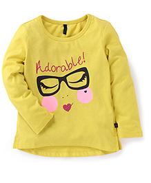 UCB Full Sleeves Top Adorable Print - Yellow