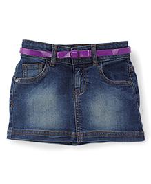 UCB Denim Skirt With Belt - Blue