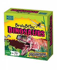 Green Board Brain Bites Dinosaurs Card Game - Multi Color