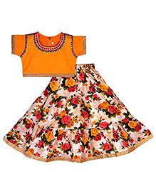 BunChi Lehnga Choli Floral - Multicolour