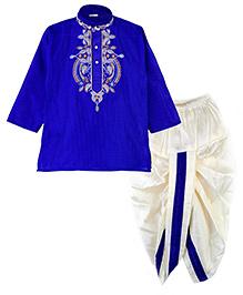BunChi Ethnic Dhoti Kurta Set - Blue