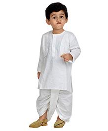 BunChi Ethnic Dhoti & Kurta Set - White