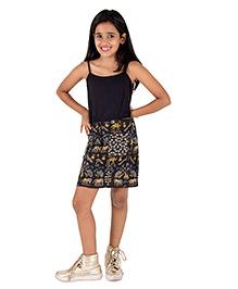 Silverthread Short Skirt In Sprayed Palette Of Colors - Multicolour