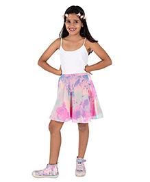 Silverthread Printed Skirt - Pastel Pink