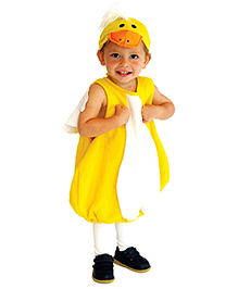 Pre Order - Superfie Halloween Romper With Cap - White & Yellow
