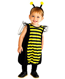 Pre Order - Superfie Halloween Romper With Hair Accessory - Yellow
