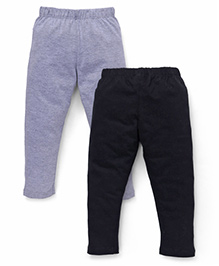 Babyhug Full Length Leggings Pack of 2 - Grey Black