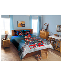 double bedsheet chota bheem birthday blue best deals. Black Bedroom Furniture Sets. Home Design Ideas