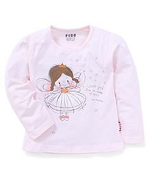 Fido Full Sleeves Angel Print T-Shirt - Cream