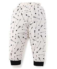 Ollypop Full Length Leggings Arrow Print - Cream Black