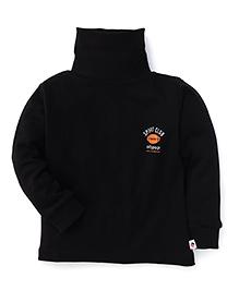 Ollypop Full Sleeves T-Shirt Sports Club Print - Navy