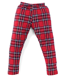 Ollypop Full Length Check Bottoms - Red
