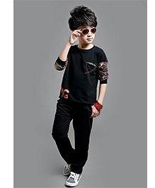 Tickles 4 U Boys Tee & Pants Set - Black