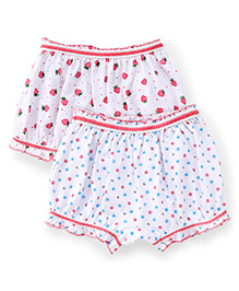 Babyhug Bloomers Pack of 2 - White Pink Blue