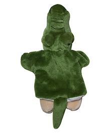 Twisha Hand Puppet Crocodile Green - 25.4 Cm