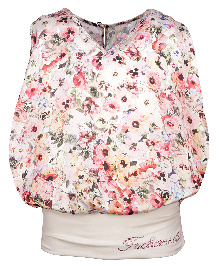 Cutecumber Sleeveless Party Wear Top Floral Print - White