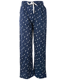The Cranberry Club Palm Tree Print Girls Pajama - Blue