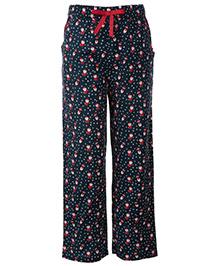 The Cranberry Club Santa Print Pajama - Blue