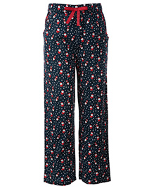 The Cranberry Club Santa Print Pajama - Blue