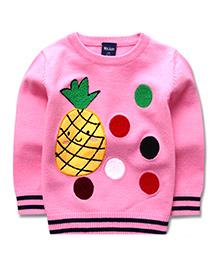 Pre Order - Superfie Fruit Print Sweater - Pink