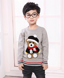 Pre Order - Superfie Winter Teddy Sweater - Grey