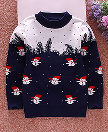 Pre Order - Superfie Santa Print Sweater - Blue