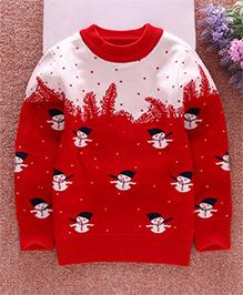 Pre Order - Superfie Santa Print Sweater - Red