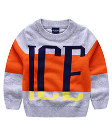 Pre Order - Superfie Ice Print Sweater - Orange