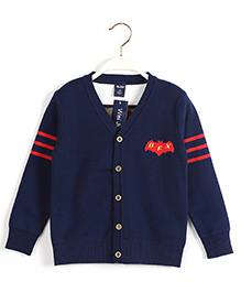 Pre Order - Superfie Pilot Style Cardigan - Blue