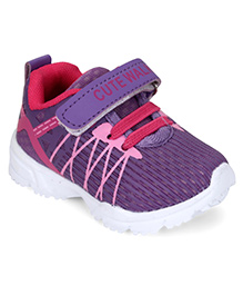 Cute Walk by Babyhug Sports Shoes With Velcro Closure - Purple