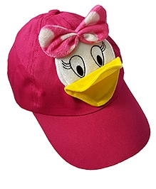 Thought Counts Cartoon Character Cap - Dark Pink