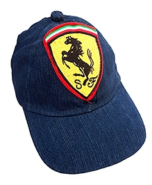 Thought Counts Stylish Horse Applique Cap - Denim