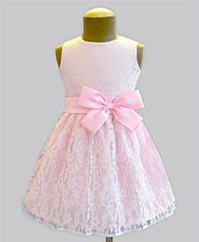 A.T.U.N  Lace Overlay Dress - Pink