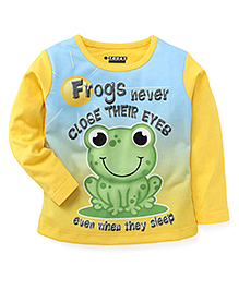 E-Todzz Full Sleeves T-Shirt Frog Print - Yellow