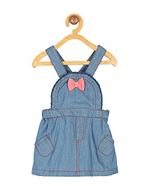 My Lil'Berry Bow Denim Dungaree - Blue