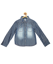 My Lil Berry Full Sleeves Denim Shirt - Blue