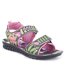 Footfun Sandals With Dual Velcro Closure - Pink