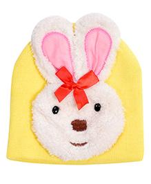 Miss Diva Cute Bunny Cap - Yellow