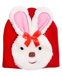 Miss Diva Cute Bunny Cap - Red