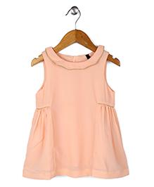 UCB Sleeveless Dress - Peach