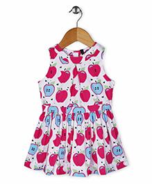 UCB Sleeveless Apple Print Dress - White