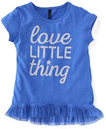 UCB Cap Sleeves Printed T-Shirt - Blue