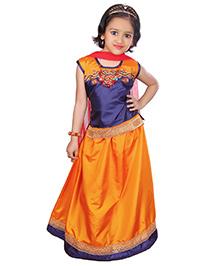 Bunchi Embroidered Lehnga Choli - Orange