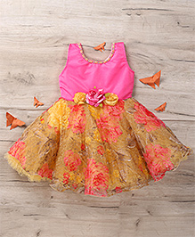 M'Princess Floral Print Party Dress - Pink