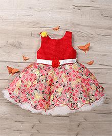 M'Princess Floral Print Dress - Red