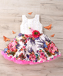 M'Princess Floral Dress - White