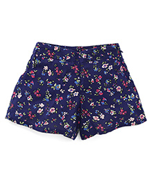 UCB Floral Print Shorts - Navy Blue