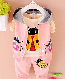 Pre Order - Aww Hunnie 3 Piece Boys Autumn Set - Pink