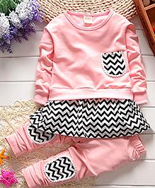 Pre Order - Aww Hunnie 2 Piece Autumn Set - Pink