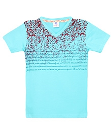 Tonyboy Boys Trendy Printed T-Shirt - Aqua